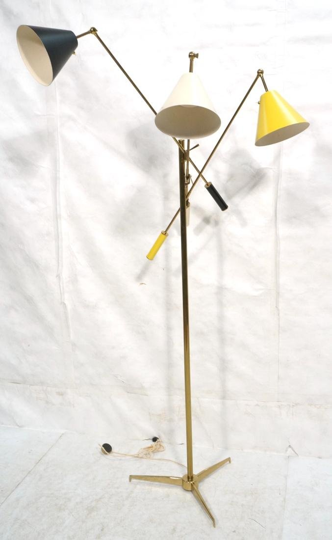Angelo Lelli for Arredoluce Monza  Triennale Floor Lamp