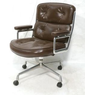 HERMAN MILLER Brown Leather Office Desk Chair. So
