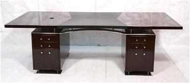 DAKOTA JACKSON Ebony Macassar Executive Desk