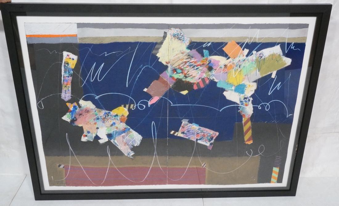 Large MOE BROOKER Mixed Media Painting. Modernist