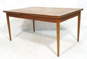 Teak Danish Modern Refractory Dining Table. 2 23.