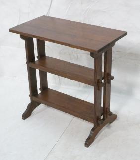 ROYCROFT Oak Mission Arts & Crafts Table. 3 tier
