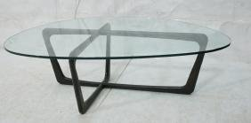 ADRIAN PEARSALL style Ebonized Cocktail Table. Tr