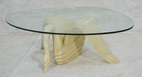 Decorator Modern Figural Swan Coffee Table. Off w