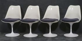 Set 4 KNOLL Tulip form Dining Side Chairs. EERO S