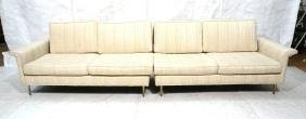 Two Part Modernist Sofa Couch Sectional. Dunbar S