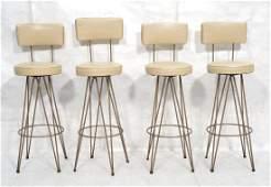 Set 4 Hairpin Bar Stools. FREDERICK WEINBERG styl