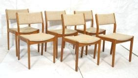 Set 6 d-SCAN Danish Modern Teak Dining Chairs. Oa