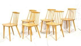 Set 6 FDB MOBLER Dining Chairs Danish. Blond wood