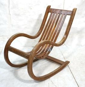 Oversize Craftsman Laminated Rocker Rocking Chair