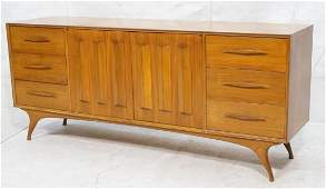 AMERICAN MODERN Credenza Sideboard. 2 sculpted do