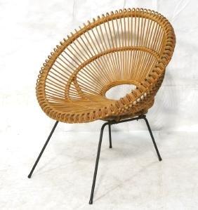 FRANCO ALBINI Woven Wicker Lounge Chair. Cocoon s