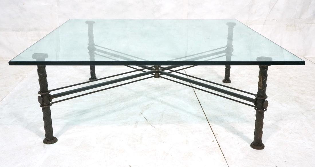 ILANA GOOR Industrial Iron Large Cocktail Table.