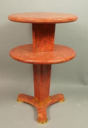 MAITLAND SMITH style Red Tesserae Table