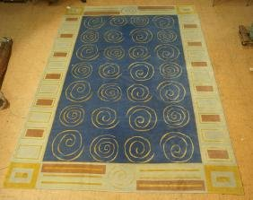 9'9 x 13'3 New Moon Carpet Rug.  Handmade.   Repe