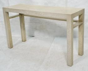 Oil Spot Lacquered Hall Console Table.