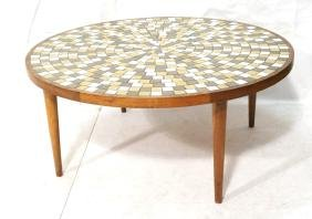 MARTZ for MARSHALL STUDIOS Tile Mosaic Top Table.