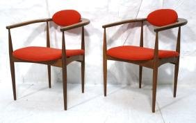 Pr ADRIAN PEARSALL for CRAFT ASSOC Walnut Chairs.
