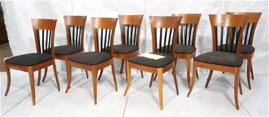 Set 8 PACE Collection Cherry Slat Dining Chairs.