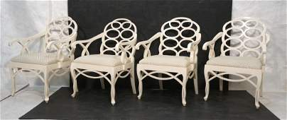 Set 4 DOROTHY DRAPER style decorator Arm Chairs