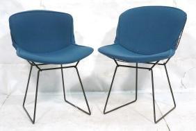 Pr HARRY BERTOIA for KNOLL Grid Metal Side Chairs