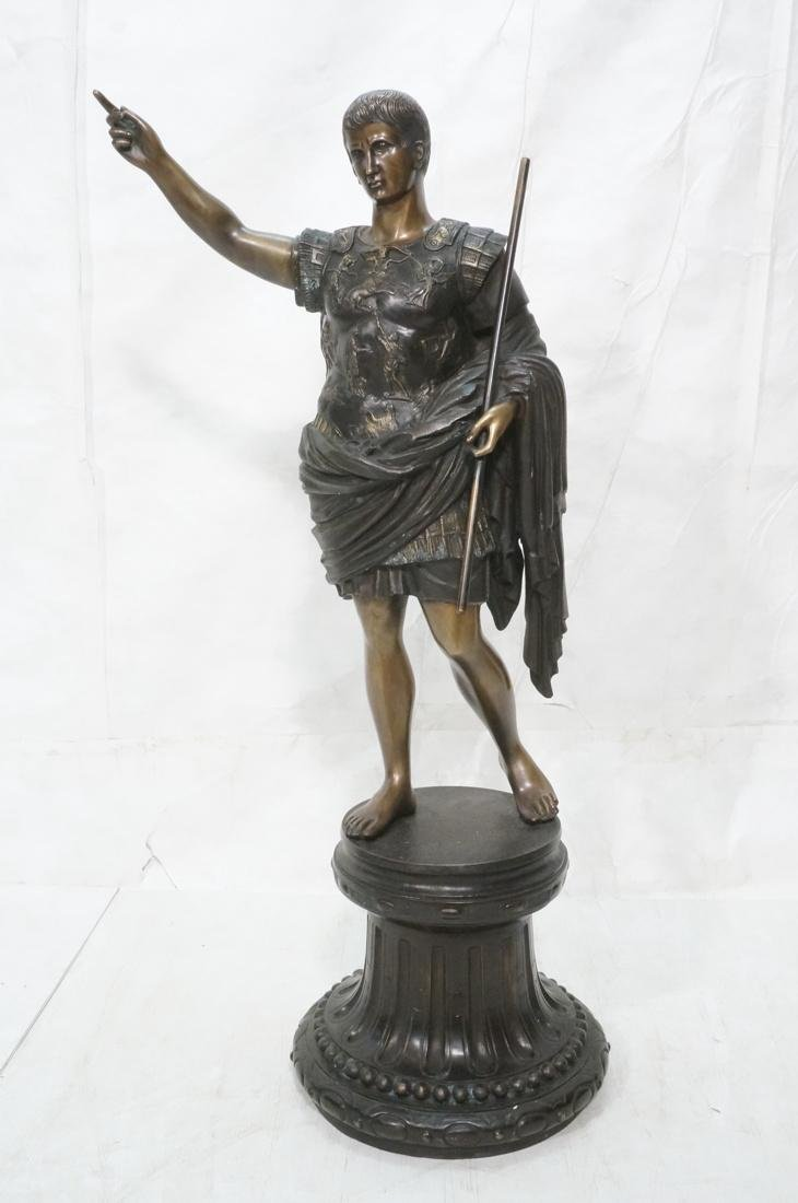 "49"" Large Bronze Roman Figural Sculpture. Roman S"