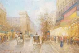 PENCKE Large Signed Impressionist Oil Painting E
