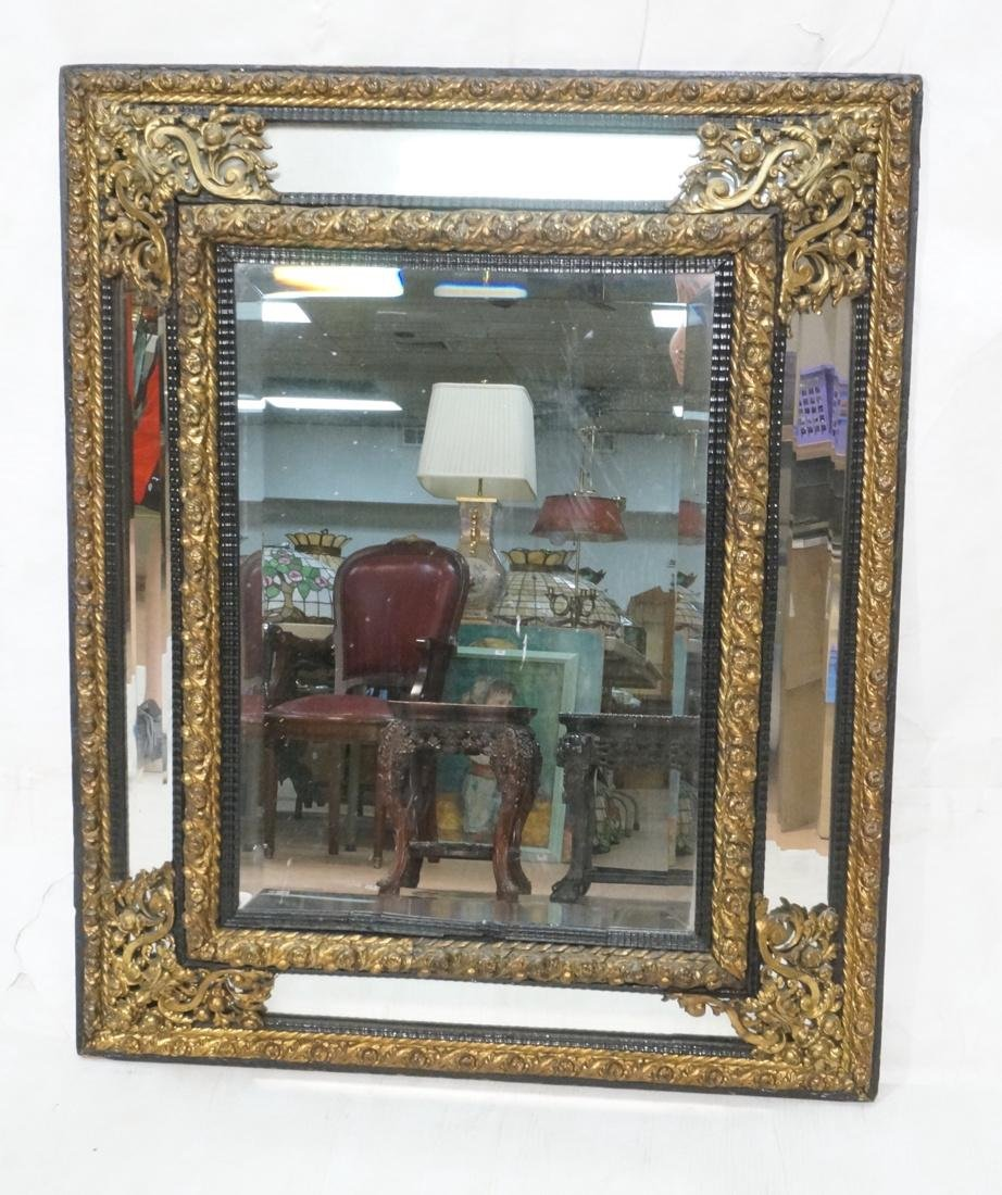 Large Decorative  Wall Mirror. Beveled mirror fra
