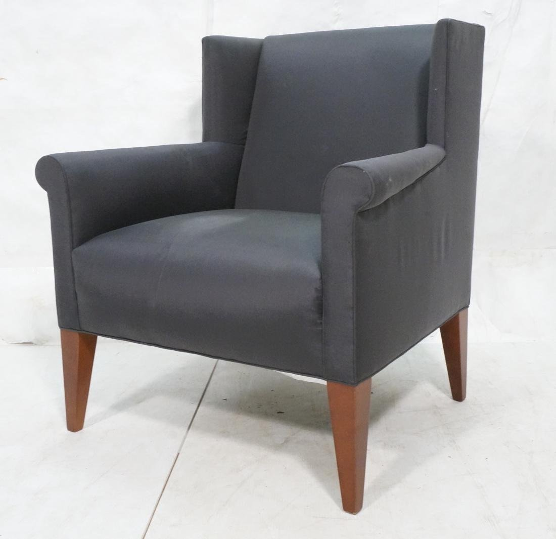 BAKER Upholstered Arm Lounge Chair. Updated Conte