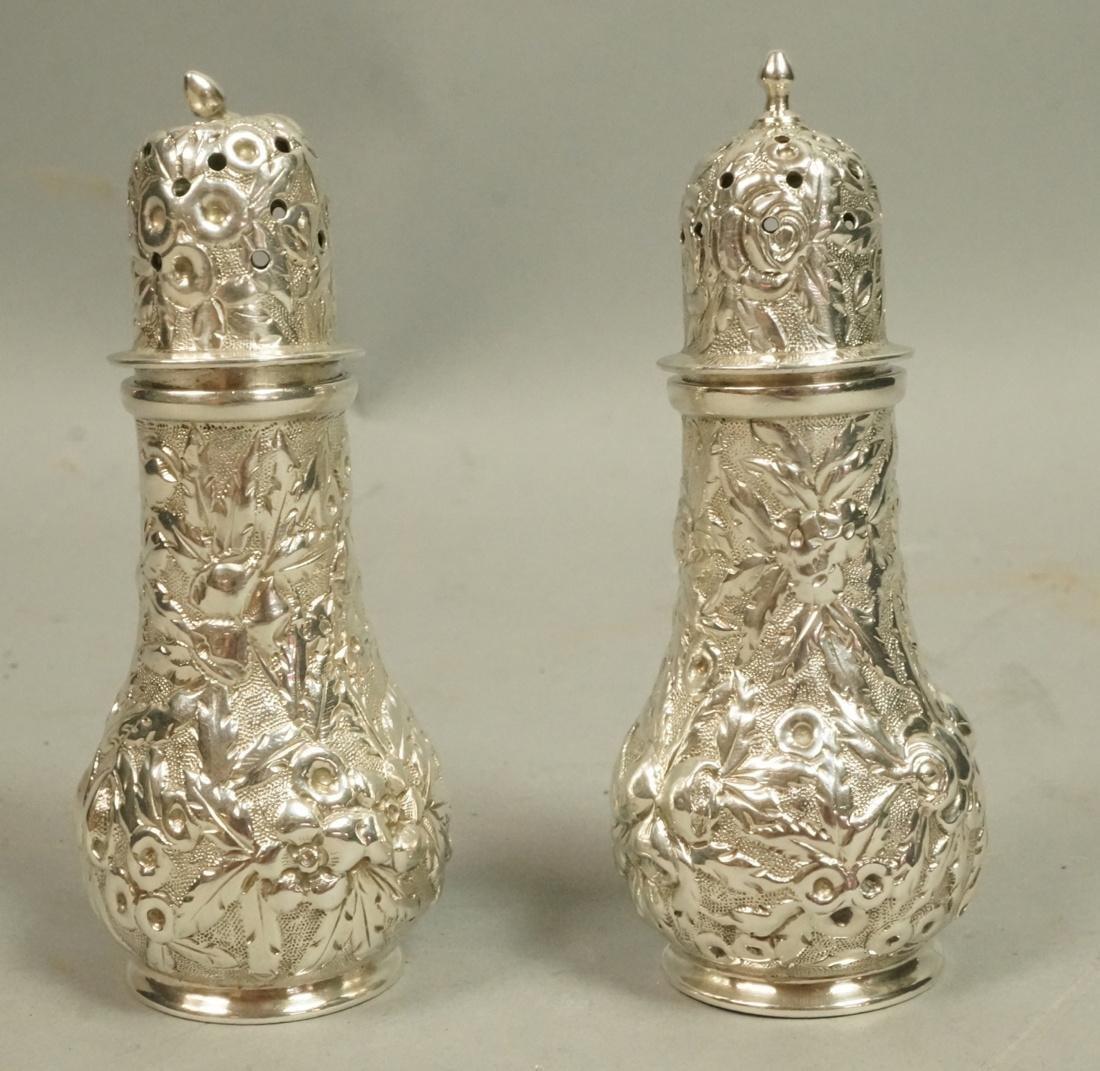 Pr WARNER Sterling Silver Shakers. Marked; 11-2.