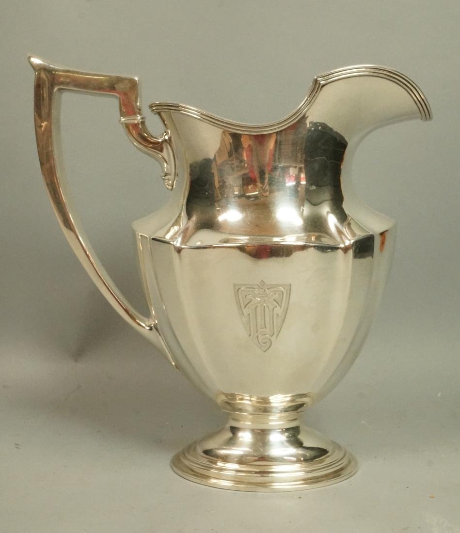 Sterling Silver GORHAM Water Pitcher. Oval footed