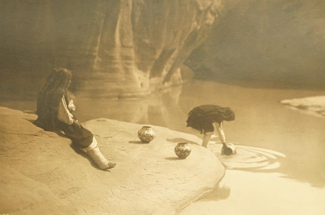 EDWARD S. CURTIS Signed Photograph At the Well of Acoma