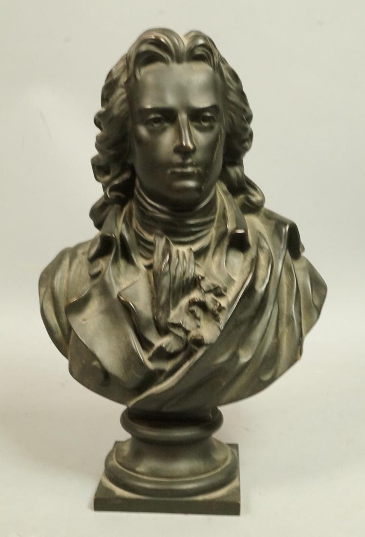 F BARBEDIENNE Foundry Cast Bronze Bust.  MECANIQU