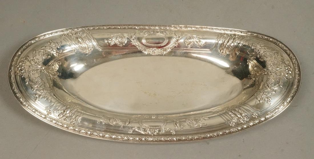 GORHAM Sterling Silver Oval Dish Plate. Wide rim