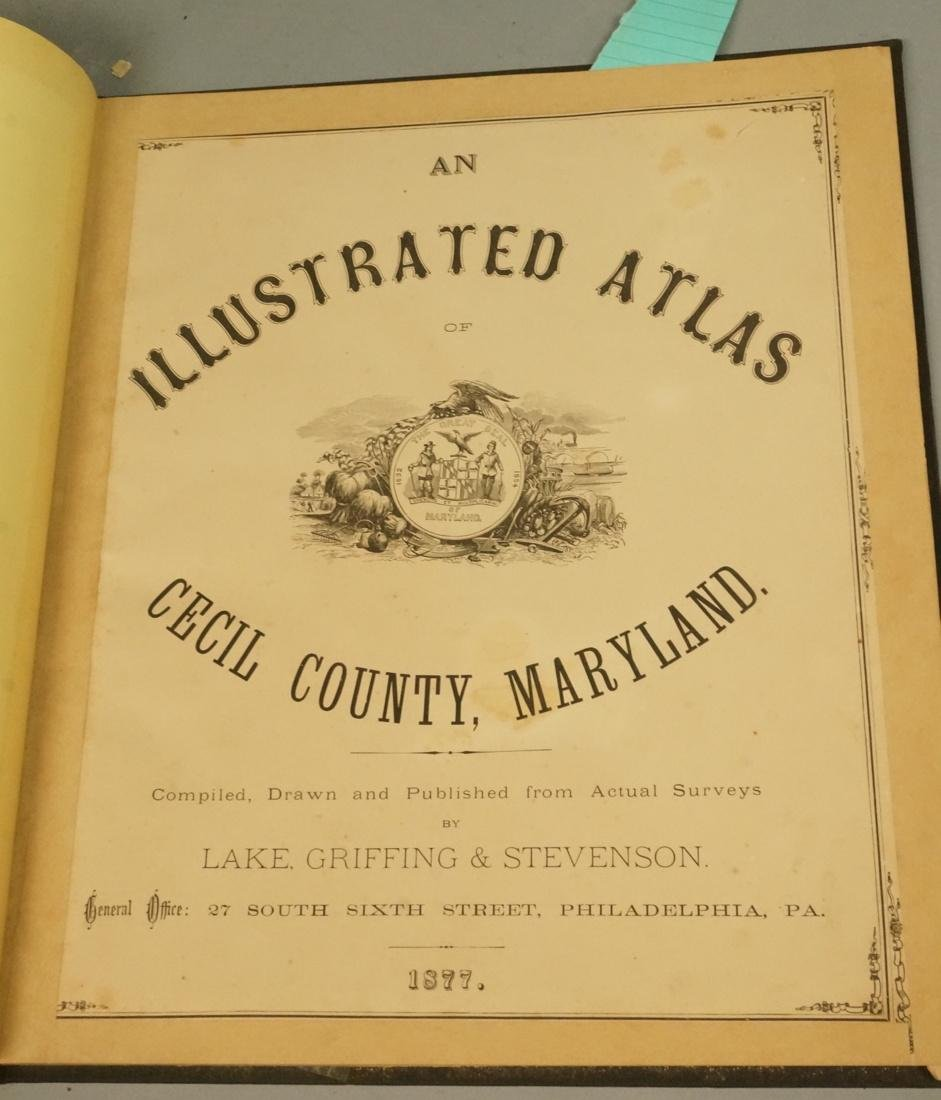 Atlas of Cecil County Maryland.  An illustrated A
