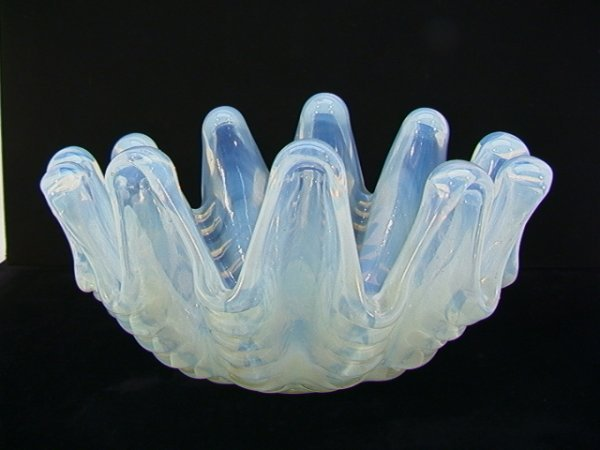 13: ERCOLE BAROVIER TOSO Grosse Clam Shell Vase Bowl.