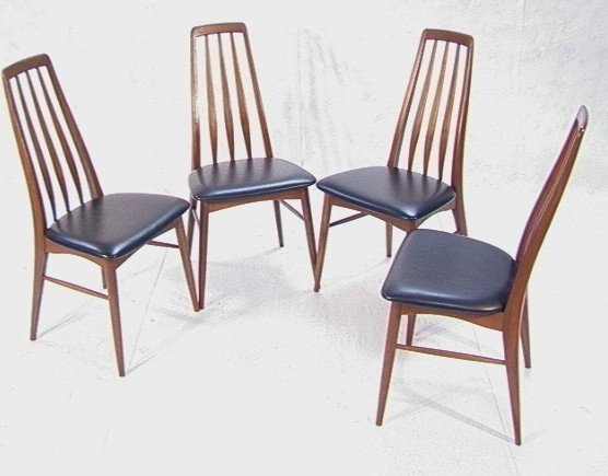 271: KOEFOEDS HORNSLEY Danish Tall back Dining Chairs.
