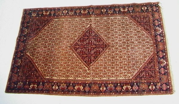 402: 6'9x4'4 SAROUK Oriental Carpet, Paisley pattern re