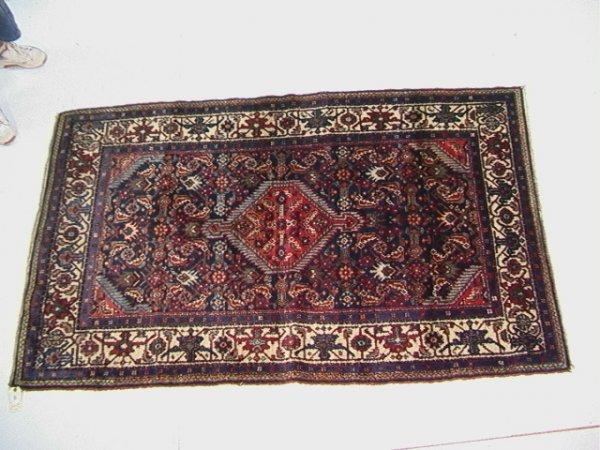 403: 7'3x4'5 HAMADAN Oriental Carpet, Blue Field.   Dim