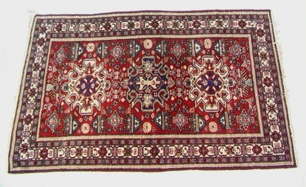 404: 7'2x4'9 ARDABIL Oriental Carpet, Red Field.   Dime