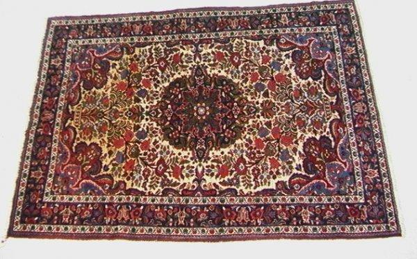 405: 6'8x4'9 BAKAIRI Oriental Carpet Tree of Life   Dim