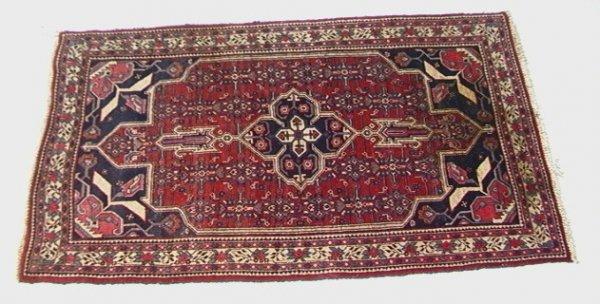 408: 6'1x3'6 NE BEJAR Oriental Carpet Red field with Bl