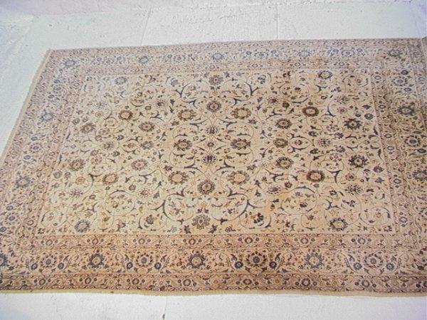 411: 11'3x7'11 KASHAN Oriental Carpet Tan Field with Bl