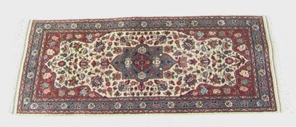 414: 5x2'1 TABRIZ  Oriental Carpet  Runner Throw, tan f