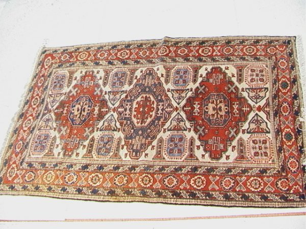 416: 7'2x4'9 ARDABIL Oriental Carpet Rust color border