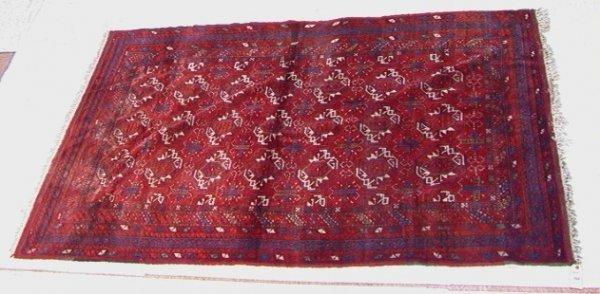 418: 4'10x7'8 PERSIAN  Oriental Carpet  Red repeating P