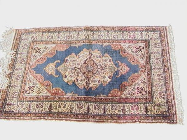 420: 4'4x2'11 TURKISH Oriental Carpet Tan with center M