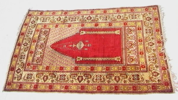 422: 4'1x6'3 TURKISH SIVAS Oriental Carpet Prayer Rug R