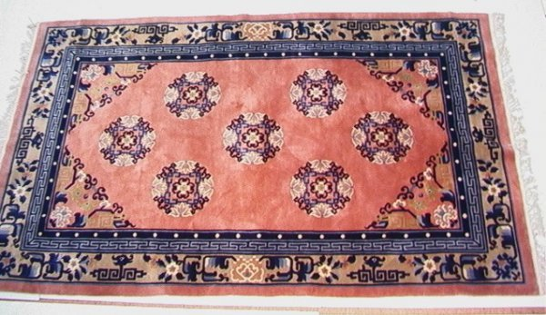 423: 8'3x5 Sculpted Chinese  Oriental Carpet Mauve with