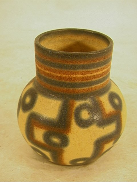 819: ERPHILA Art Pottery Vase Geometric Design GERMANY.
